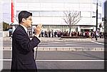 東海駅前で演説する石井衆議院議員