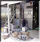 生ゴミの炭化処理施設