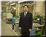 キャノン取手工場を視察する井手県議