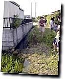 ひたちなか市で下水の現地調査