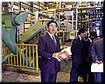 (株)札幌熱供給公社を視察する井手県議