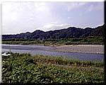 久慈川と諸沢川の合流点