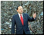 つくば市高野産廃を調査する加藤修一参議院議員