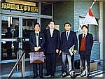 静岡の有料道路を現地調査する井手県議、助川吉洋日立市議