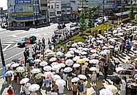 水戸駅北口西武前での街頭遊説