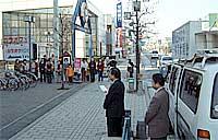 新春街頭遊説を岩井市で開催