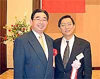 日中友好協会新春交流会で許金平参事官と再会