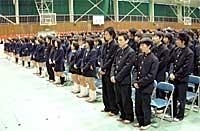 県立多賀高校卒業式に参列