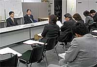 県庁県政記者クラブで公明党茨城県議会選挙第一公認候補を発表