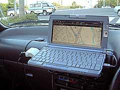 パソコンGPSを購入、愛車のダッシュボードにセットアップ