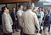 岩井市でネギ生産農家を現地訪問