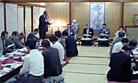 樫村日立市長も参加し、盛大に開催されたコミュニティNETひたち第2回交流会