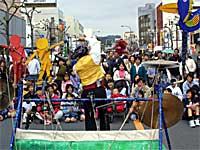 多賀駅前通の開催された「ひたち国際大道芸」