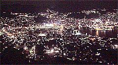 稲佐山からの長崎市内の夜景