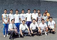 高校総体陸上競技リレーの出場した関西創価高校選手団と会食