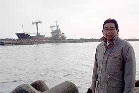 12月6日、井手県議は日立港を視察しました。
