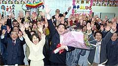 12月8日県議選の投開票日、井手県議はトップで3期目の当選を決めました。