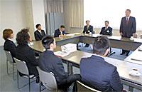 パーク建設要望を樫村市長に伝える作る会のメンバー