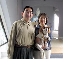 宿泊したホテルでの家族写真