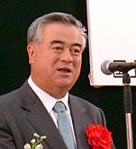 国道6号日立バイパス開通式で挨拶する橋本昌県知事
