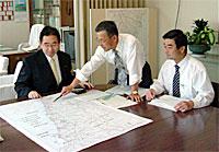 高萩土木事務所から平成15年度予算箇所付け説明聴取