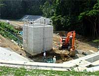 大沼川調整池建設現場