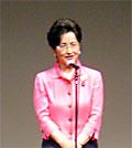来賓挨拶する浜四津敏子公明党代表代行