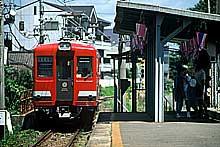日立電鉄河原子駅(1997年夏)