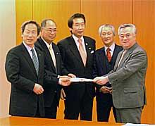 ウミウ捕獲場再築及び捕獲技術保存協議会が橋本知事に要望書
