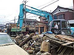 ゴミの回収作業