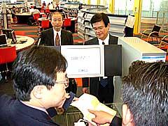 ICチップによる貸出装置