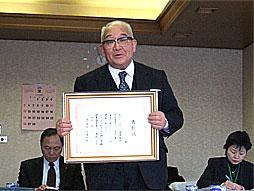 高齢健康優良者表彰制度について説明する三浦大助佐久市長