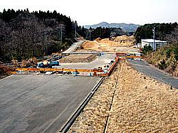 友部インターで進められている北関東道の延伸工事