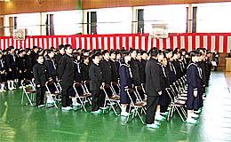 日立市立台原中学校の入学式
