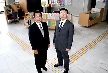 公明党常陸太田支部山口恒夫支部長と深谷渉副支部長