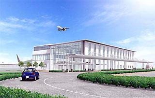 愛称が新たに決定した「茨城空港」のターミナル完成予想図