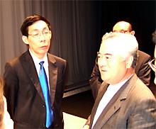 橋本昌県知事と段北生訪日団団長