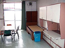 4人部屋となっている居室