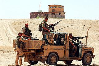 ISAFに参加したNATO軍の兵士、カブール付近で、NATO提供真