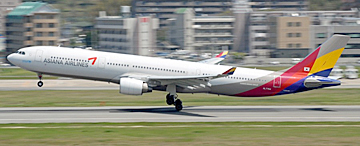 アシアナ航空が所有する「エアバスA330−300型機」