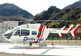 茨城県のドクターヘリに導入予定の朝日航洋の川崎BK117C-2:ちゃっきりドットコム様より転載させていただきました。