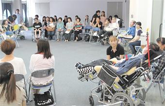 日本ALS協会茨城支部の年次総会の模様