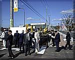 常陸太田市内の歩道改修